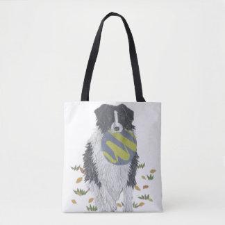 Border Collie, Sheepdog, Dog Art, Modern Tote Bag