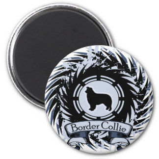 Border Collie Shield - 1 Blue Magnet