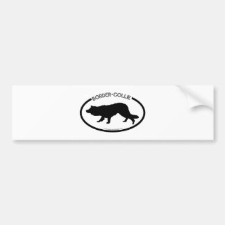 Border Collie Silhouette Black Bumper Sticker