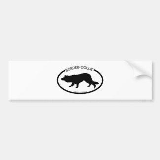 Border Collie Silhouette Black Bumper Sticker