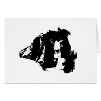 Border Collie Silhouette Dog Card