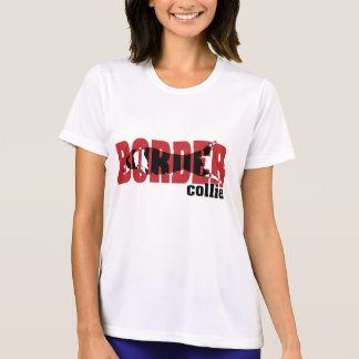 Border Collie silhouette, jumping T-Shirt