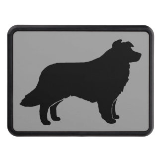 Border Collie Silhouette Tow Hitch Covers