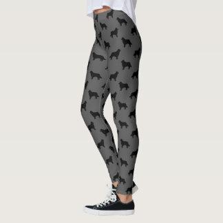 Border Collie Silhouettes Pattern Leggings