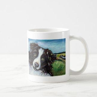 Border collie smile coffee mug