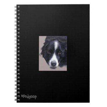 mindgoop border collie spiral notebook