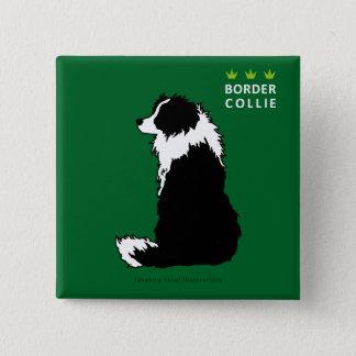 Border Collie Square Button