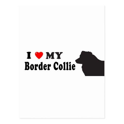 Border collie tarjetas postales