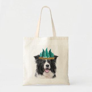 Border Collie Thanksgiving Tote~Indian Tote Bag
