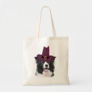Border Collie Thanksgiving Tote~Pilgrim Tote Bag