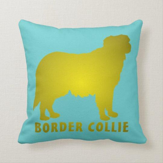 Border Collie Throw Pillow