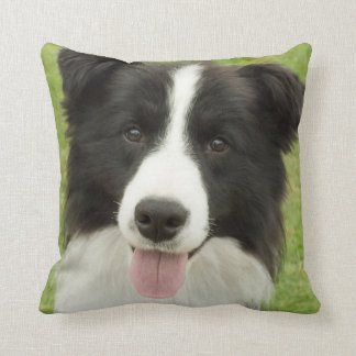 Border Collie Throw Pillows