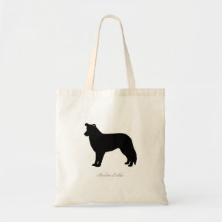 Border Collie Tote Bag (black silhouette)