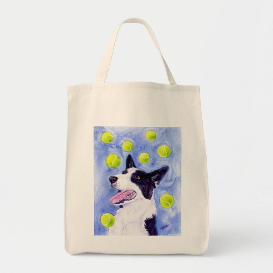"""Border Collie Tote Bag - """"Magpie's Gold"""""""
