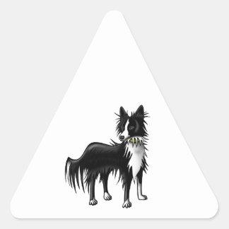 Border Collie Triangle Sticker