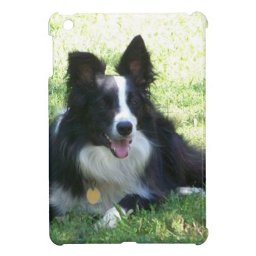 Coffee Themed Border Collie Tshirts Case For The iPad Mini