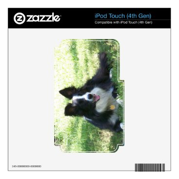 Coffee Themed Border Collie Tshirts Decals For iPod Touch 4G
