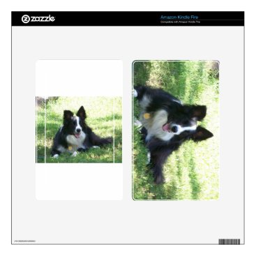 Coffee Themed Border Collie Tshirts Decals For Kindle Fire