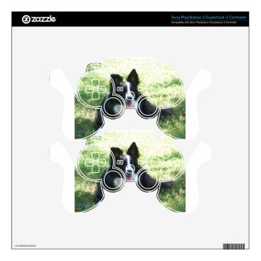 Coffee Themed Border Collie Tshirts PS3 Controller Decals
