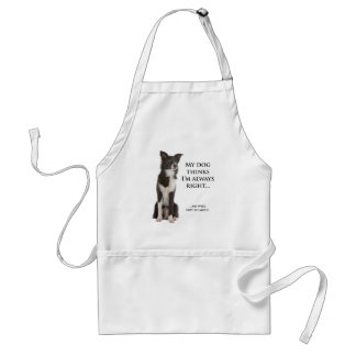Border Collie v Wife Barbeque Apron