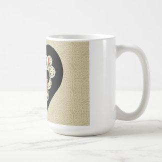 Border Collie Valentine Mug~Vintage Lace Coffee Mug