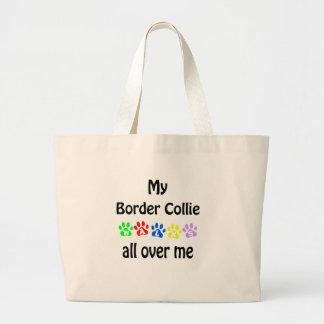Border Collie Walks Design Jumbo Tote Bag