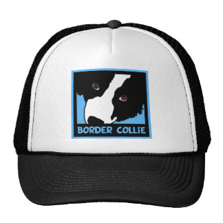 Border Collie Watching Ewe You Mesh Hats