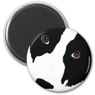 Border Collie Watching Ewe (You) Magnet