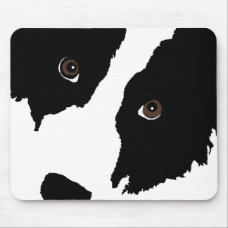 Border Collie Watching Ewe (You) Mouse Pad