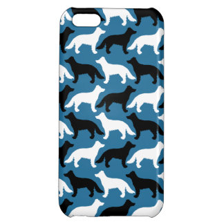 Border Collie white, blue and black iPhone 5C Case