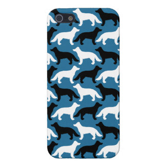 Border Collie white, blue and black iPhone SE/5/5s Cover