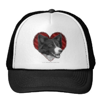 Border Collie with Heart Trucker Hat