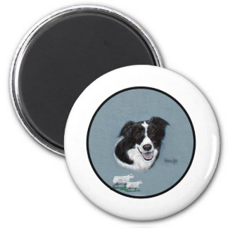 Border Collie with Sheep Fridge Magnets