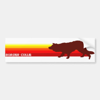Border Collie With Stripes Bumper Sticker