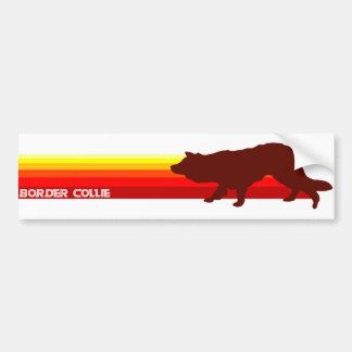 Border Collie With Stripes Bumper Sticker