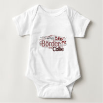 Border Collie Word Cloud Infant Creeper