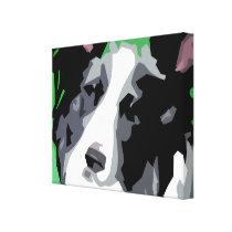 Border Collie Wrapped Canvas Prints