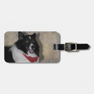 """Border Collie """"Wylie"""" Tags For Bags"""