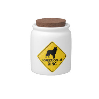 Border Collie Xing Candy Dishes
