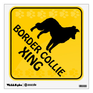 Border Collie Xing Wall Sticker