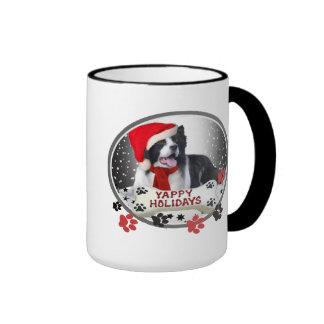 Border Collie Yappy Holidays Mugs