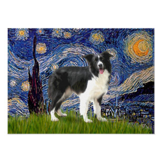 Border Collie (Z) - Starry Night Posters