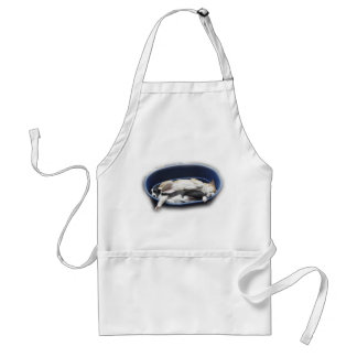 Border Collies - Dixie/Tipper sleeping Adult Apron