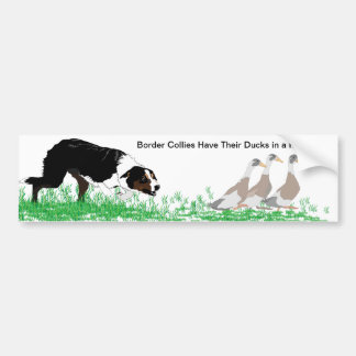 Border Collies Have Their Ducks in a Row Sticker