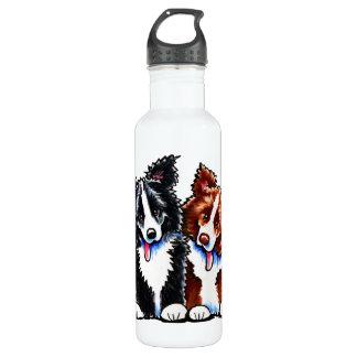 Border Collies Little League 24oz Water Bottle