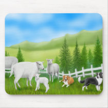 Border Collies Mousepad