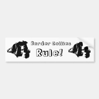 Border Collies Rule Cute Dog Bumper Sticker
