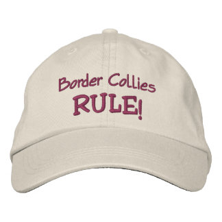 Border Collies Rule Cute Embroidered Baseball Cap