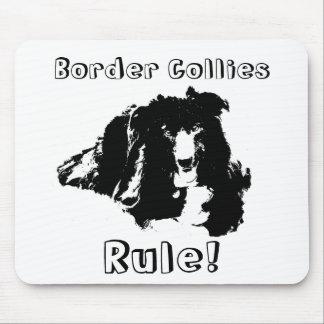 Border Collies Rule Funny Dog Mousepad