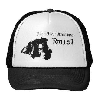 Border Collies Rule Funny Dog Trucker Hat